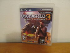 Uncharted 3: Drake's Deception PS3 (Sony PlayStation 3, 2011) with booklet