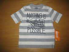 NWT Gymboree Deep Sea Adventure size 6-12 Months Gray Striped Bottle Top Shirt
