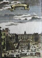 Rome Italy Roma Capitoline Hill Street Scene Senatorial Palace 1719 Mallet print