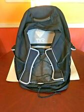 TYR Triathlon Transition Swimming Biking Backpack Black Excellent Condition