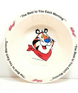 Vintage 1995 Kellogg's Collector Tony the Tiger Cereal Bowl