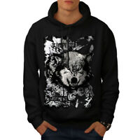 Wellcoda No Anger Management Mens Hoodie, Wolf Casual Hooded Sweatshirt