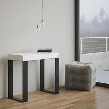 Tavolo consolle allungabile Bianco Frassino Mod. Tecno salotto soggiorno cucina