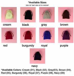 """VELOUR JEWELRY BAG-3x4""""-25/pk, Wedding Party Favor Gift Candy Pouch."""