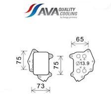 PE3396 Radiatore olio, Olio motore (AVA)