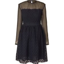"Fabulous Orla Kiely Floral Lace Long Sleeve Dress In Navy, UK6(32"" Bust), NWT"