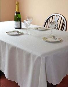 Easycare Dupont tablecloths - various sizes modern Cream damask