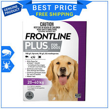 Frontline Plus For Dogs 20 to 40 Kg Purple Pack 3 Pipettes Flea and Tick Control