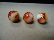 3 Vintage Christensen Agate Company Swirl Marbles  5/8  To  11/16   Mint +