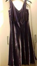 Laura Ashley ladies dress size 14 winter velvety mauve purple midi occasion