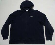 Lacoste Women's Fleece Full Zip Sweatshirt Hoodie Jacket Navy Blue 9 4XL