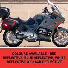 Carenado reflectante y Kit de seguridad Alforja a rayas para adaptarse a Bmw R1150RT Todos Los Colores