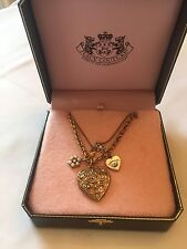 Juicy Couture Gold Charm Necklace In Box NWT! Retails $88