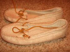 MINNETONKA CANVAS MOCCASIN SHOES Womens Size 10