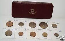 1953 PROOF SET Elizabeth II ll aFDC Condition 10 Coins - ORIGINAL BOX - SUPERIOR