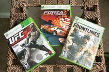 Xbox 360 Games Undisputed 3, Fuel Of War, Forza 2 Motorsport In Case, Complete
