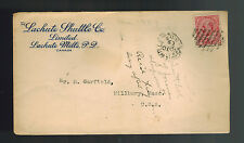 1909 Lachute Mills Canada Cover to Millbury MA USA w/ letter