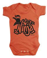 GINGER NINJA Funny Boys Girls Baby Grow Vest Bodysuit Rompersuit Babies Clothes