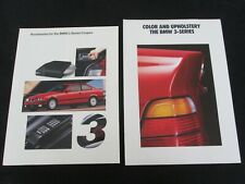 1992 1993 BMW 3 Series Coupe Accessory& COLORS Catalog E36 318is 325is Brochure