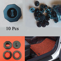 10 Pcs Auto Car Floor Mats Carpet Clips Mounting Fastener Black Plastic Durable