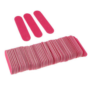 Pack Of 100 Pieces Dual-Sided Nail Files, Washable Nail Buffering Files Bulk,