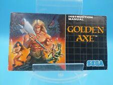 jeu video notice BE sega megadrive golden axe
