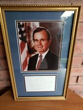 George Bush autographed Beautiful framed picture with letter