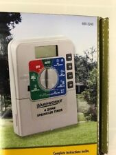4 ZONE SPRINKLER TIMER - yardworks w/ battery backup - NEW - Free Shipping!