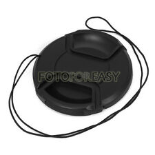 52mm Center Pinch Snap on Front Cap Hood Cover for Lens / Filters with Leash 52