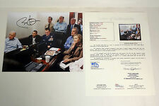President Barack Obama Signed Bin Laden War Situation Room 8x10 Photo JSA COA