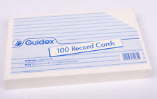 Record Cards White Plain 8 x 5 ( Revision Prompt Cards ) pk 100