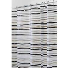 New Striped Shower Curtain Rust Proof Pvc Free Waterproof Bathroom 72 x 72 inch