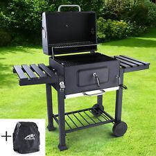 RAMROXX® BBQ XL Holzkohle Grillwagen Smoker Barbecue Grill RX850 mit Abdeckung