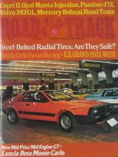 Road & Track 07/1975 featuring Panther, Opel, Ford Capri road test, Mercury