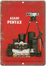 "Asahi Pentax Film Camera 10"" x 7"" reproduction metal sign"