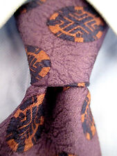 Men's Christian Dior Purple Silk Tie Made in Italy 21216