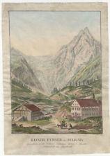 Lüsener Fernerkogel/Sellrain (Stubai): Kol. Kupferstich, Franz Carl Zoller