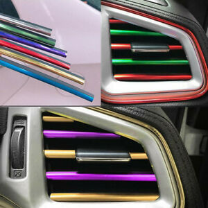 10× Car Accessories Colorful Air Conditioner Air Outlet Decoration Strip Cover