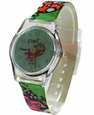 Core Girls Designer Green Football Dial With Multi Color Football Strap Plastic