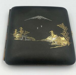 Japanese mixed metals silver gold K24 cigarette case
