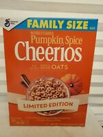 NEW GENERAL MILLS FAMILY SIZE PUMPKIN SPICE CHEERIOS CEREAL 19.8 OZ (561g) BOX