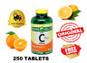 Vitamin C 1000 mg  Support the Immune System 250 tablets Fast Shipping AAA 250