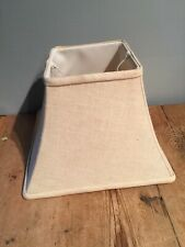 """SQUARE LINED LINEN  LAMP SHADE   7 1/2"""" TALL X 10 1/2"""" BOTTOM"""