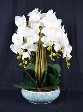 Large Artificial Phalaenopsis Orchid Plants With Porcelain Pot White