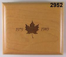 1989 PROOF SILVER CANADIAN MAPLE LEAF CERT. & WOOD MAPLE BOX RARE! #2952