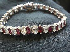 Sterling CZ Ruby Tennis Bracelet