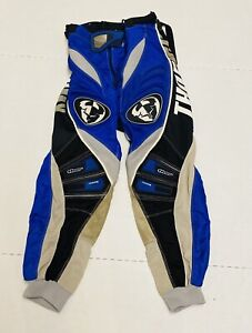 Thor MX Youth Motorcross Blue/Black/White Padded Riding Pants- Size 24