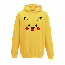 [ Kids ] Pikachu Face Pokemon Game Inspired Hoodie