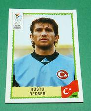 N°144 RÜSTÜ RECBER TURQUIE TÜRKIYE PANINI FOOTBALL UEFA EURO 2000