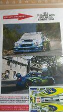 Decals 1/43 réf 831 Subaru WRC SOLBERG  Corse 2004